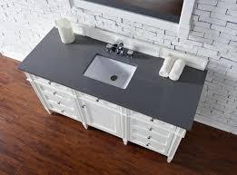 bathroom vanity no top. Contemporary 60 Inch Bathroom Vanity White Finish No Top