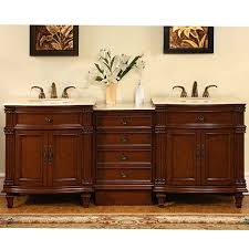80 double vanity. Wonderful Double Silkroad Exclusive Marble Top 80inch Double Sink Vanity Cabinet In 80 C