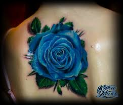 татуировка синяя роза тату салон юрец удалец философия тату