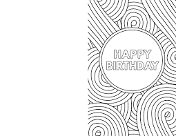 Black And White Birthday Cards Printable Free Coloring Birthday Cards For Dad Meltingclock Co