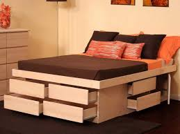 Queen Size Platform Bed With Drawers Foundation Bedroom Sets 2018