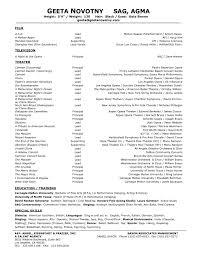 Musical Theater Resume Yyjiazhengcom Resume