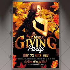 thanksgiving party flyer thanksgiving party night autumn flyer psd template psdmarket