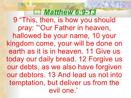 Image result for matthew 6 9 lord's prayer