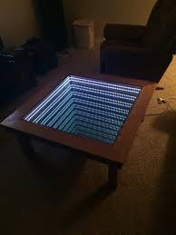 15 year old student creates award winning infinity table in woodworking class diy coffee table illusion creation ntd inspired