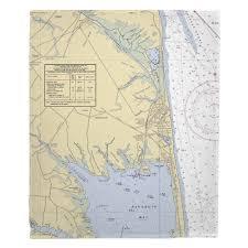 De Rehoboth Beach De Nautical Chart Blanket Island Girl