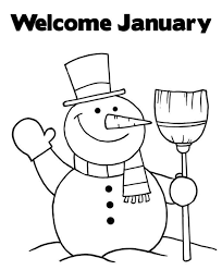 Small Picture Welcome January Snowman Coloring Pages Winter Coloring pages of