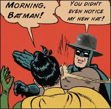 Batman Slapping Robin Meme Tumblr - batman slapping robin meme ... via Relatably.com