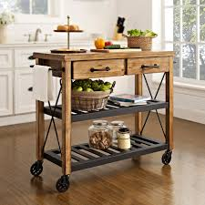 Powell Color Story Antique Black Butcher Block Kitchen Island | Hayneedle