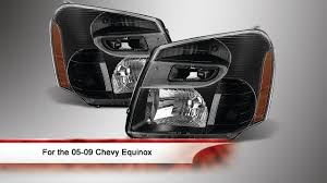 05-09 Chevy Equinox OEM Style headlights - YouTube