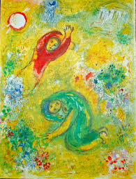 marc chagall the trampled flowers from daphnis and chloe