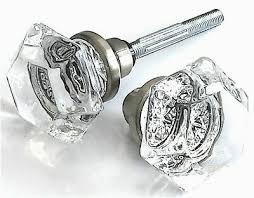 replacement glass door knobs spindle