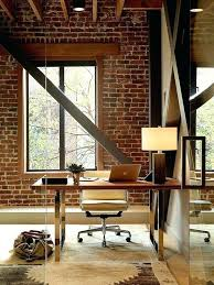Trendy office ideas home offices Contemporary Industrial Home Office Marvellous Trendy Textural Beauty Home Offices With Brick Walls Office Ideas Modern Industrial Cillaluzcom Industrial Home Office Marvellous Trendy Textural Beauty Home