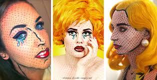 ic book makeup cartoon pop art makeup tutorial makeup roy lichtenstein roy lichtenstein makeup costume makeup