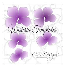 Pearl S Crafts Paper Flower Templates Hanging Paper Wisteria Flower Templates Flowers Flower
