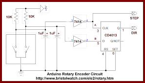 rotary encoder d flip flop microcontrollers d rotary encoder d flip flop