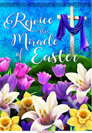 miracle of easter garden flag