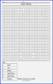 Easy Color By Number Super Mario Color By Number Coloring Sheets