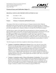 Rsc Letter No 12 01 Voluntary Termination And Related Pages 1