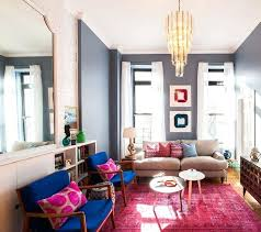 pink and brown rug captivating home decor ideas for living room pink rug brown wooden blue seat armchair black leg beige couch grey wall color rounded table