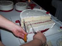 Indydebi Cake Cutting Chart The Business Of Weddings How To Cut A Wedding Cake