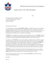 Sample Recommendation Letter For Student Scholarship Green Brier