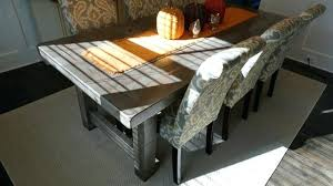 grey distressed wood dining table dining rustic slate gray the farm dining table in inspirations 0 with reclaimed