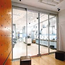 commercial interior sliding glass doors. ESA400. Fine Frame Full Breakout Automatic Sliding Door Commercial Interior Glass Doors A