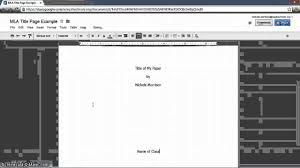 mla title page th grade