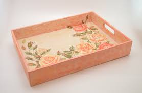 Wooden Trays To Decorate Wooden decoupage tray wooden tray decoupage tray shabby 4
