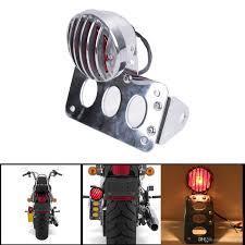 2018 motorcycle side mount license plate frame tail brake turning