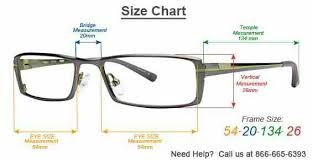 Reading Glasses Size Chart Measurments For Frames Eyewear Sunglass Frames