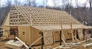 building the overhang and roof horse barn
