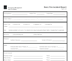 Free Incident Report Template Injury Format Accident