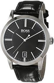 hugo boss mens quartz watch analogue classic display and leather hugo boss mens quartz watch analogue classic display and leather strap 1513129