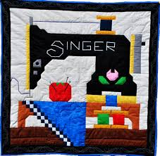 Sewing Machine Quilt pattern with multiple sizes by CountedQuilts ... & Sewing Machine Quilt pattern with multiple sizes by CountedQuilts, $9.00 Adamdwight.com