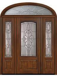 80 1 panel 3 4 arch lite courtlandt cherry walnut door 2side