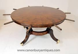 antique dining tables guide to how the leaf system works stunning intended for round extendable table plan 15
