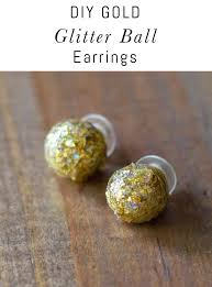 learn how to make these diy glitter ball earrings using polymer clay and folkart glitterific acrylic