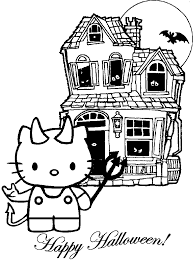Kitty has made a cake and has beautiful scenery just outside her house window. Hello Kitty Halloween Coloring Pages Best Coloring Pages For Kids