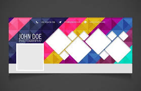 free facebook cover with geometric background