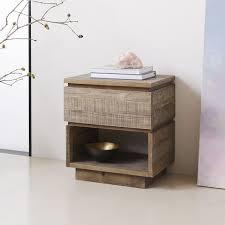 reclaimed wood nightstand. Emmerson® Modern Reclaimed Wood Nightstand - Stone Gray