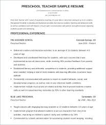 Resume Template For Teacher Delectable Word Doc Resume Templates Teacher Resume Template Free Google Image