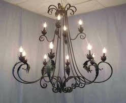 rustic outdoor chandelier lighting extravagant wrought iron for design ideas in chandel