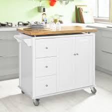 SoBuy Neu Luxus Küchenwagen Arbeitsplatte aus hochwertigem Bambus