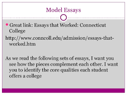 telling your story ten tips for writing powerful college essays 1 2 3 4 5 15 model essays iuml130151great link essays that worked connecticut college