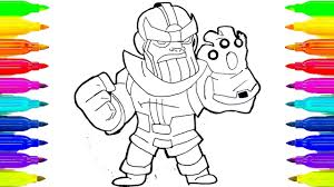 Marvel Infinity War Thanos Coloring Page For Adults Youtube