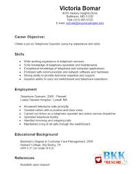 Phone Operator Skills Resume Sample Resume Skills Resume. fabrication ...