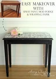 easy makeover with spray paint mod podge wrapping paper super easy diy