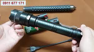 Combo Đèn Pin phòng thân tự vệ 1108 và bình xịt nato - YouTube